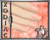 Snowflake Peach Nails