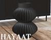Fluted Vase - Black