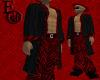 EO  Coat Blk/Red Z