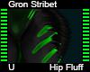 Gron Stribet Hip Fluff