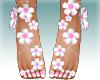 ::Z::Feet Pink flowers