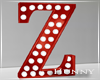 H. Marquee Letter Red Z