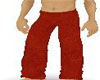 red suede pants