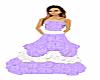 Purp & Wht Crinkle Dress