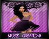 Kids Purple ruffle dress