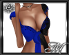 Blue Black Split Top