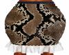 Snake Skin Gather Skirt