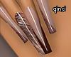 q! chocolate nails