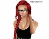 Red long braid