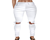 STEM White Ripped Jeans