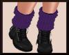 Fall Knit Boots BlkPURP