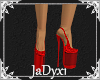 Clear Red Platforms
