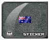 """O"""" Australia Pixel Flag"""