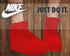 [B] Red Nike Shoes