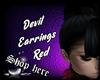 Devil Earrings Red