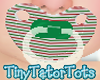 Kids Green Striped Paci