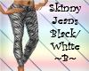 Skinny Jeans Black/White