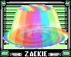 rainbow jello trampoline