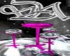 pink chrome table/chair