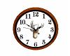 Cabin Wall Clock Deer