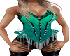 Teal Spiked Corset