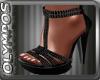 *O* Black Sandals