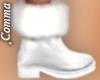 , White Fuzzy Boots