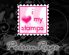 I heart my stamps