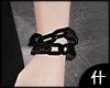 什. Black chain brac L