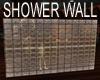 GLASS SHOWER WALL BROWN