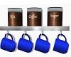 Coffee Cup Shelf Blue