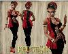 #KS#Outfit Sexy RedBlack