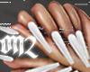 EXTRA Long White Nails