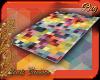 Rug square rainbow