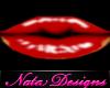 red goth lipstick