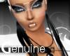 (M) Feather Black Ear-