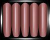 Dark Coral Nails