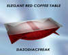 Elegant Red Coffee Table