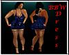 BBW Blue Rose Dress