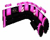 Theatre Seat Pink Curved