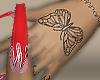 Nails Flames + Tatto