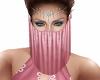 Ava Harem Veil Pink Rose