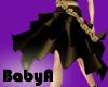 BA Gold Flowers Skirt