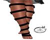 Fury Black Leg Straps