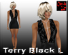 Terry Black Mini Dress L