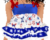 red white & blue ruffle