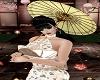 Cream Oriental Fan Dress