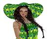 Peacock hippie hat