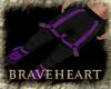 (DBH) black/purple pants