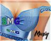 M| SMG Denim Ruffle Top
